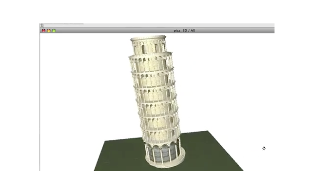 The Leaning Tower of Pisa, Italy remodeled in BIM using ArchiCAD