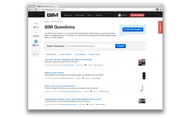 BIM questions and answers now live