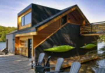 What kind of wood is suitable for homes on or in the water
