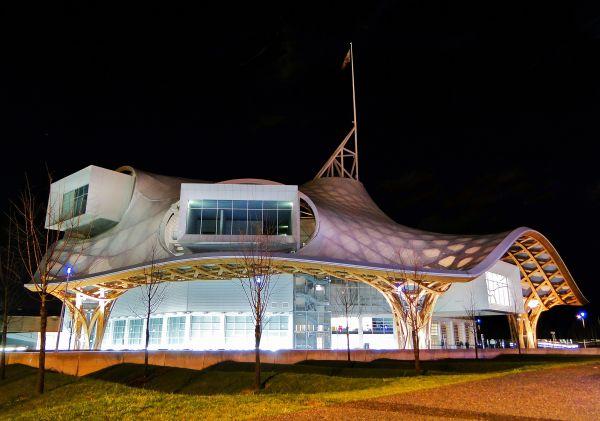 Centre Pompidou Metz Night Modlar Com