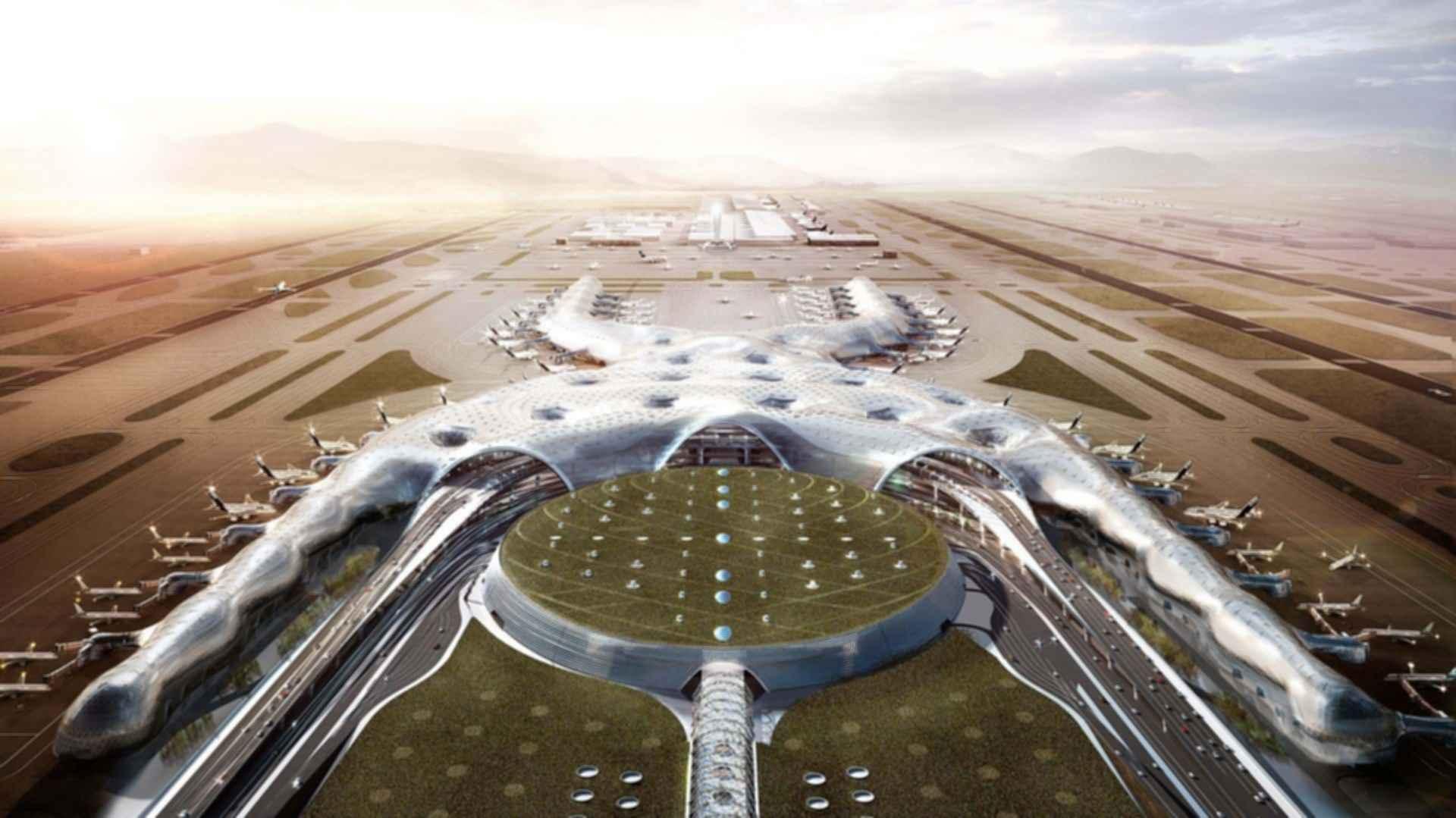 Mexico City Airport Aerial Concept Design Modlar Com