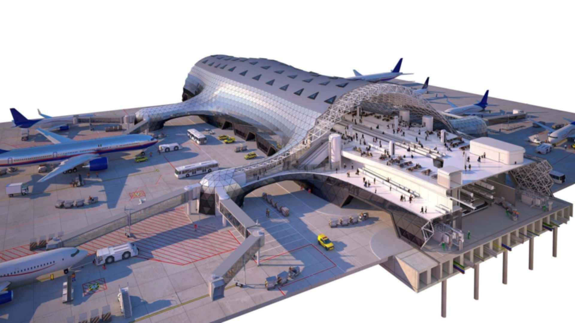 Mexico City Airport Terminal Concept Design Modlar Com