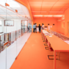 MVRDV House - Orange Meeting Room