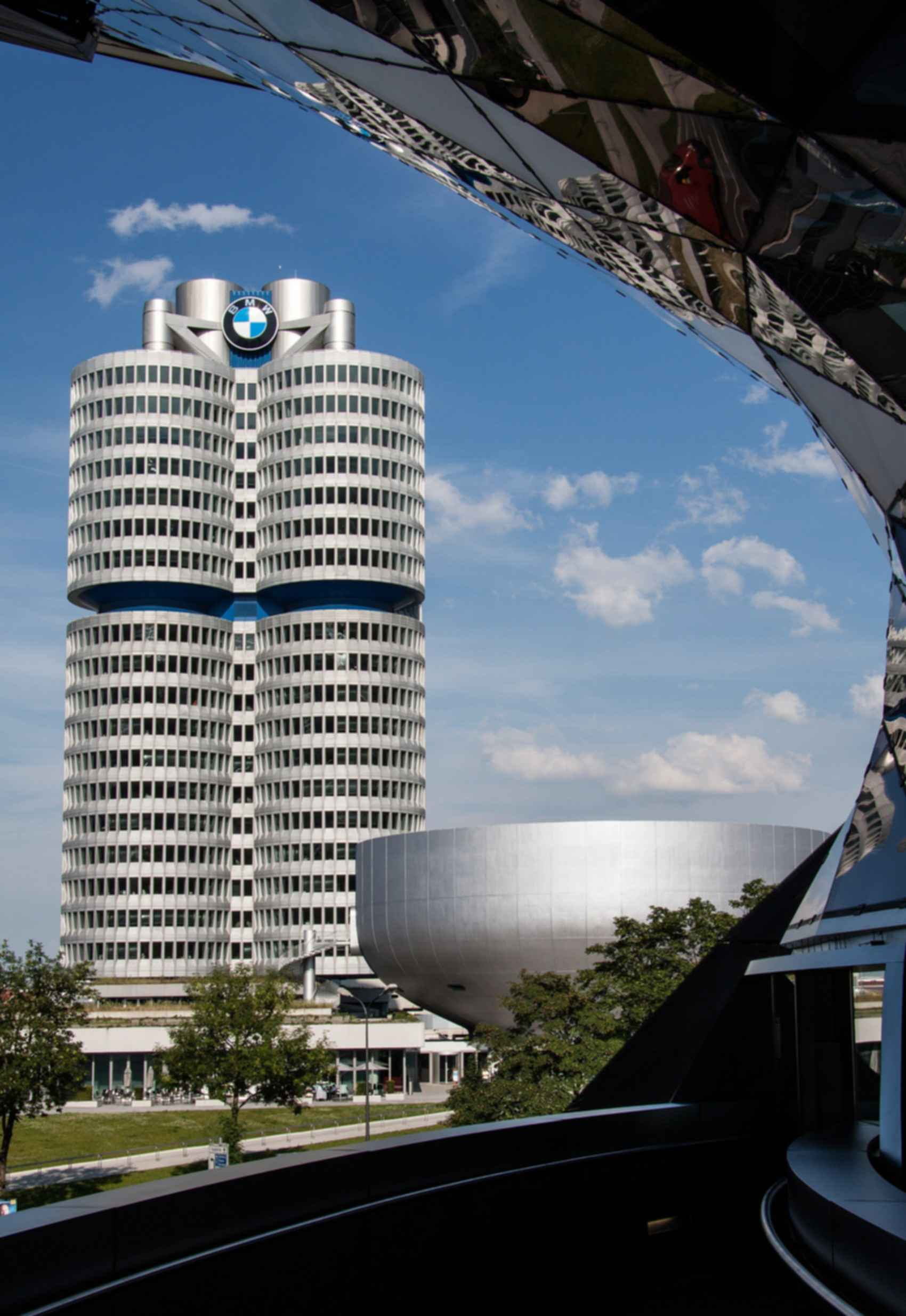 BMW Museum and Headquarters - View from BMW Welt Platform