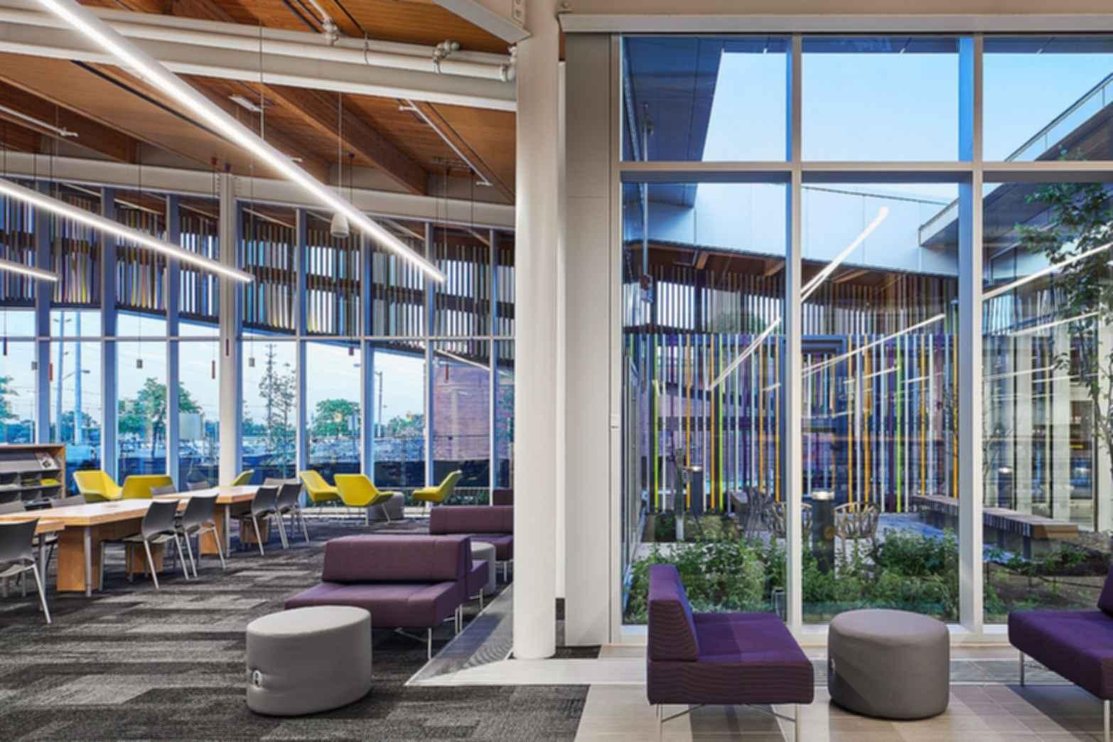 Albion District Library Interior Modlar Com