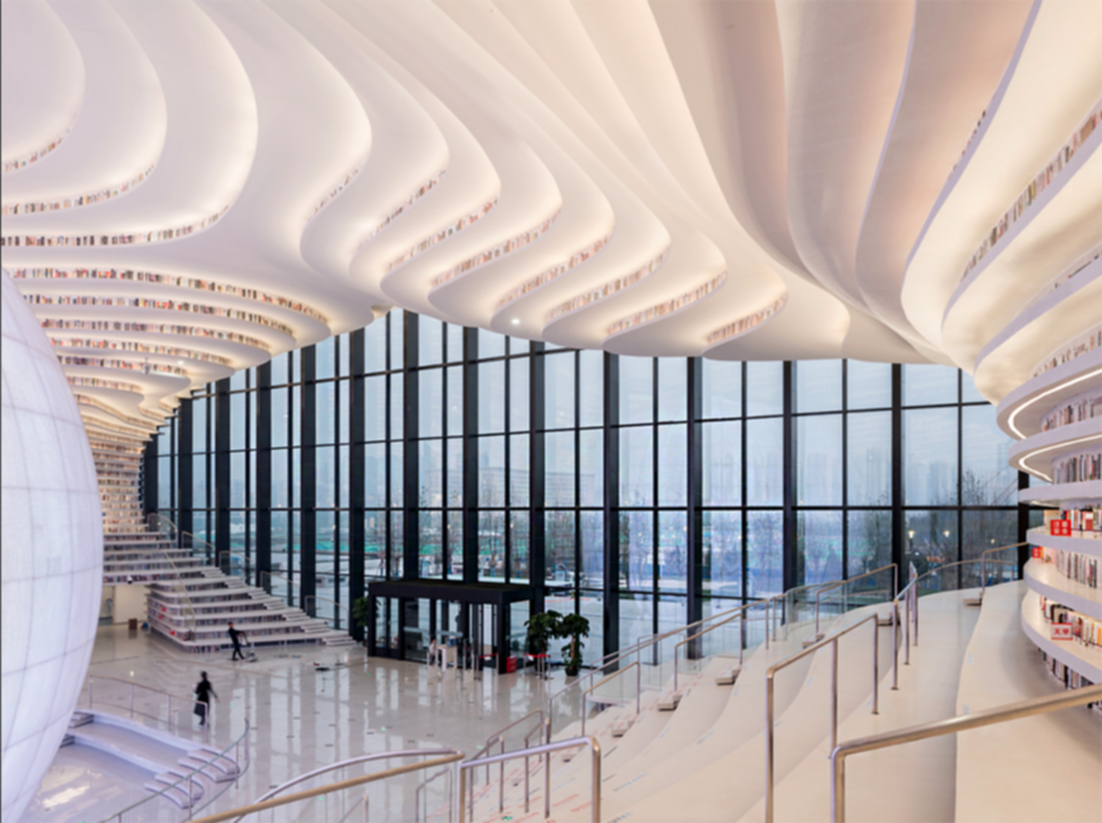 Tianjin Binhai Library - Interior Entrance