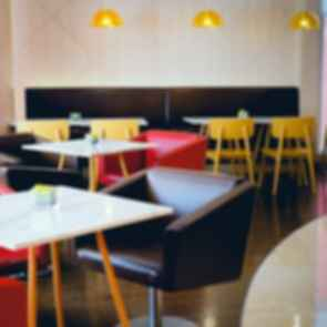 Colorful Cafe Interior