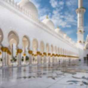 Sheikh Zayed Grand Mosque - Courtyard