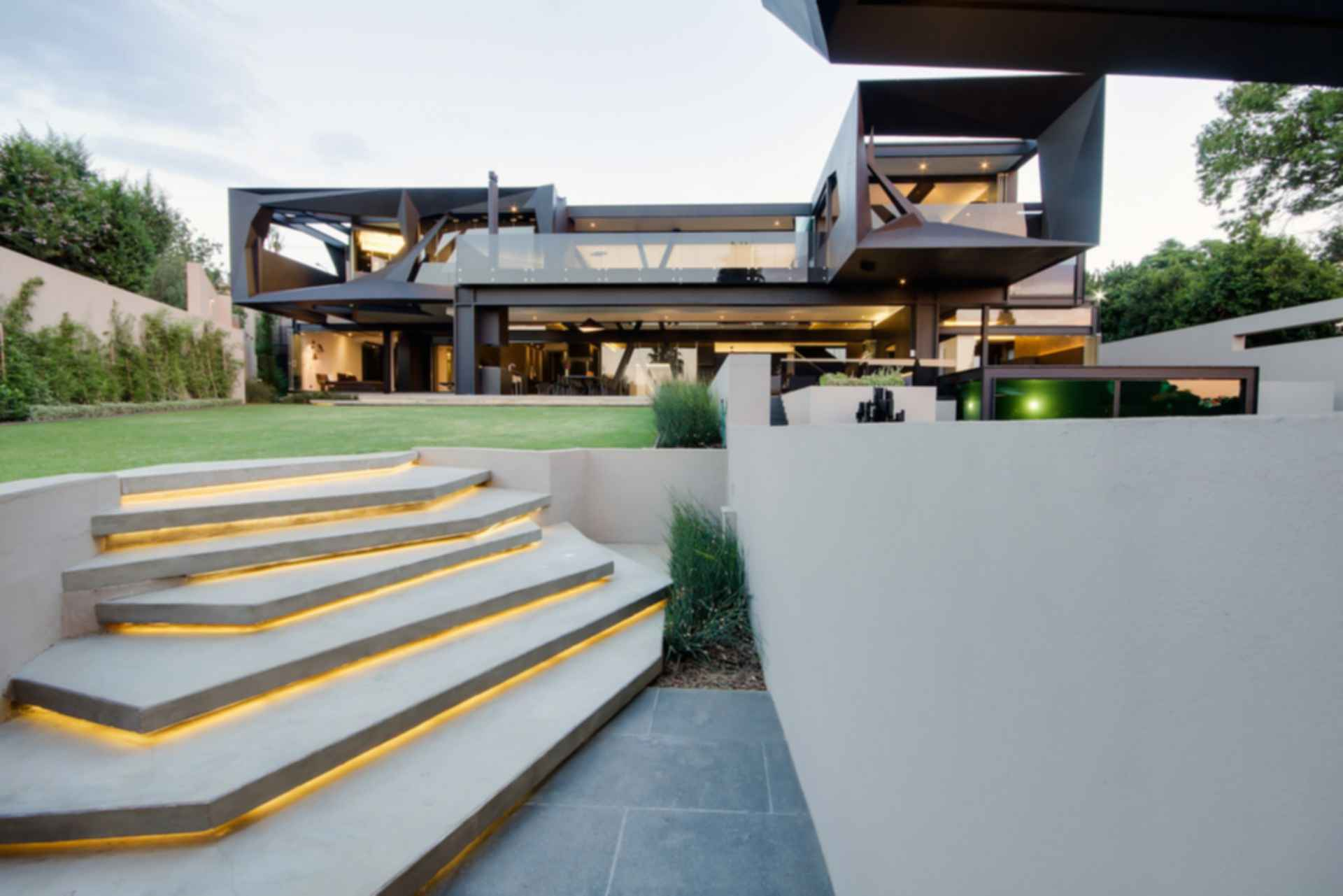 Kloof Road House - Exterior Stairs