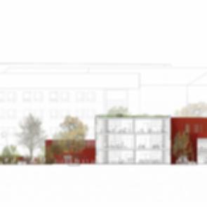 Forfatterhuset Kindergarten - Longitudinal Section