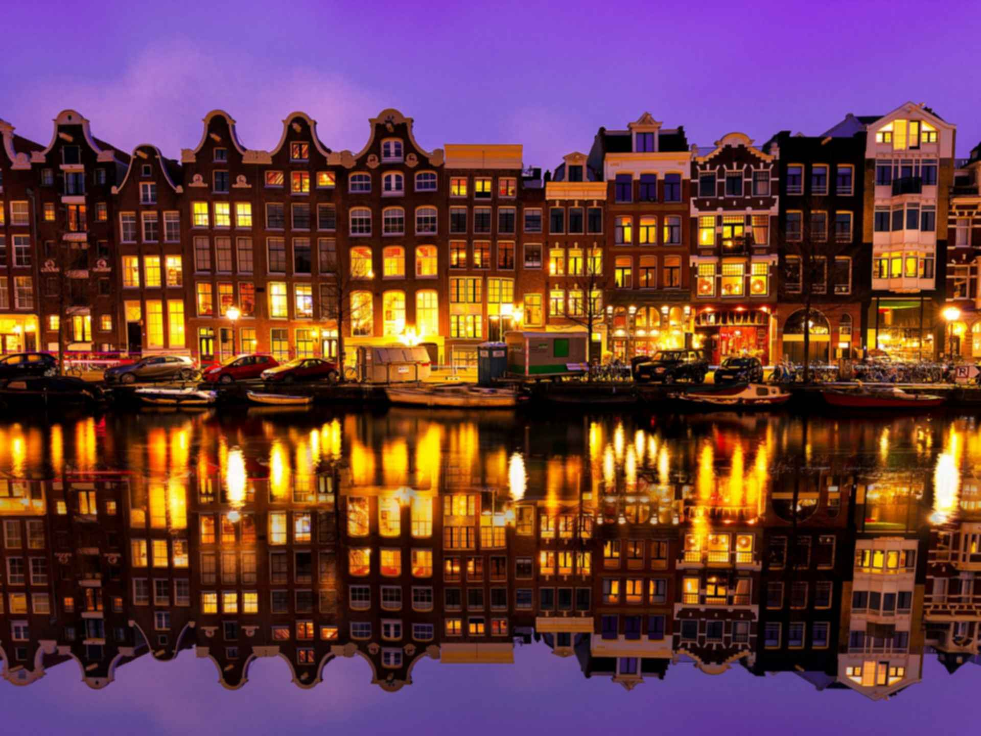 Amsterdam Canal Houses - at Dusk