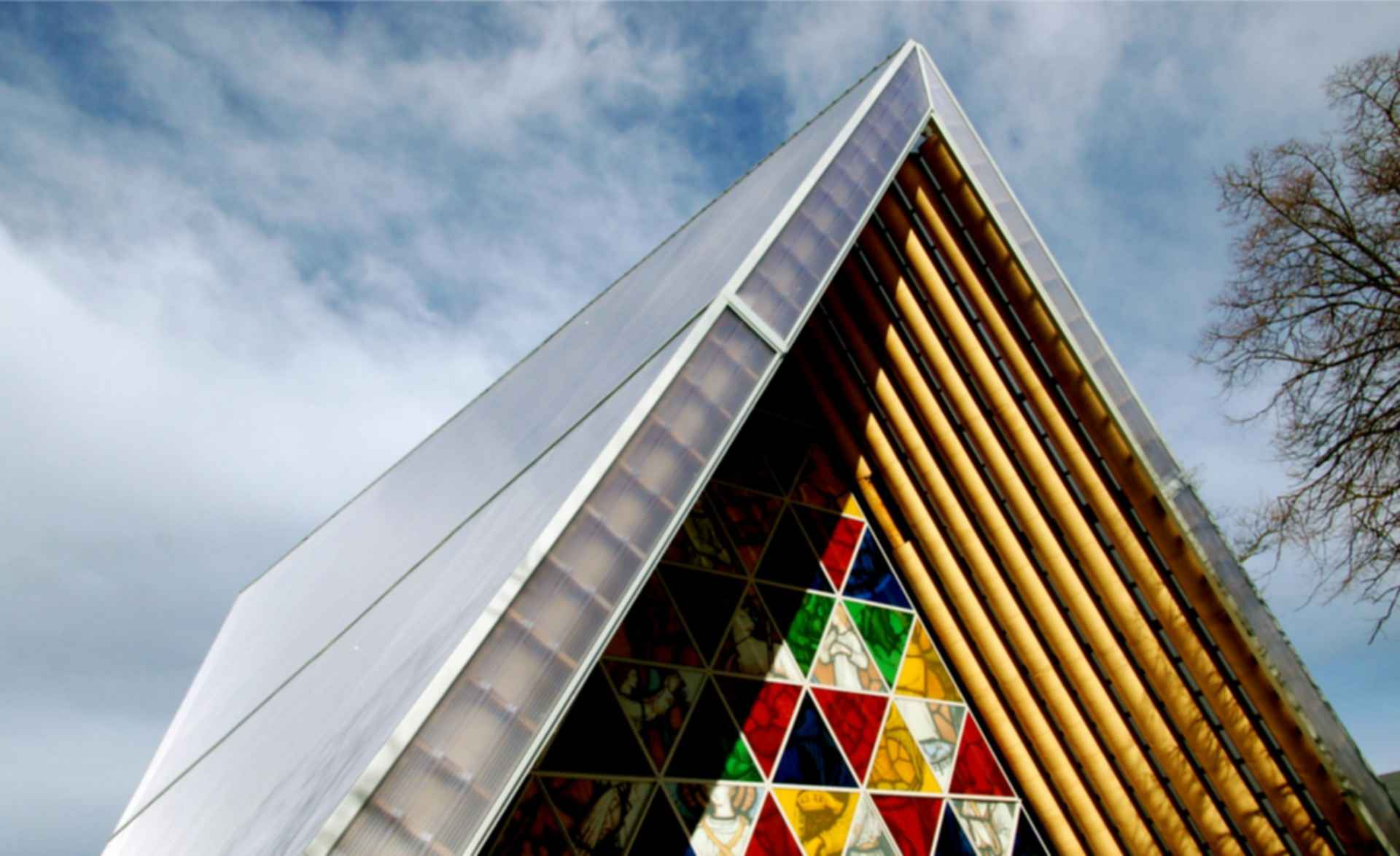 Cardboard Cathedral - Roof