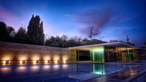 The Barcelona Pavilion Exterior Modlar Com