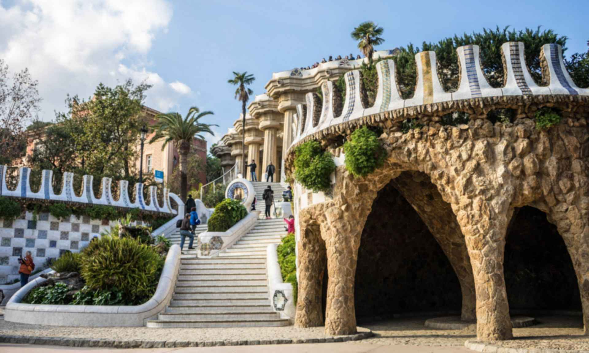 Park Guell - Stairs