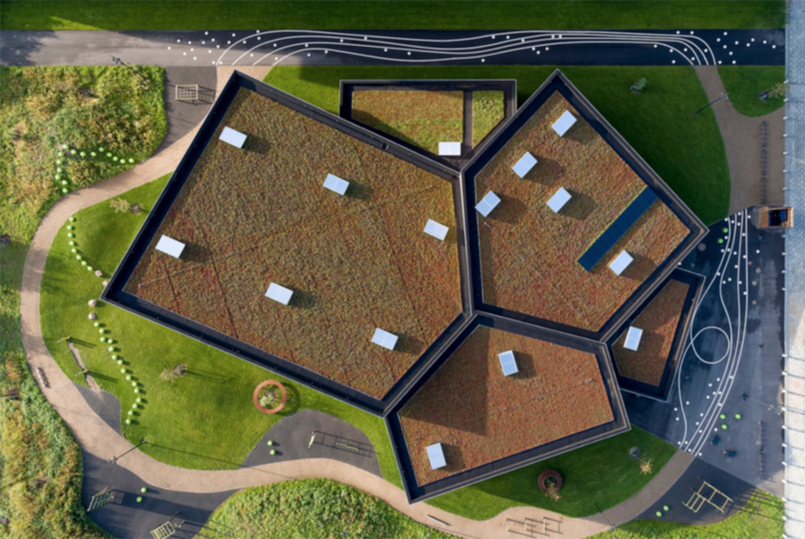 Ørestad Multi Sports Facility - Bird's Eye View