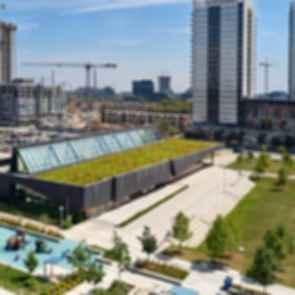 Regent Park Aquatics Centre - Bird's Eye View