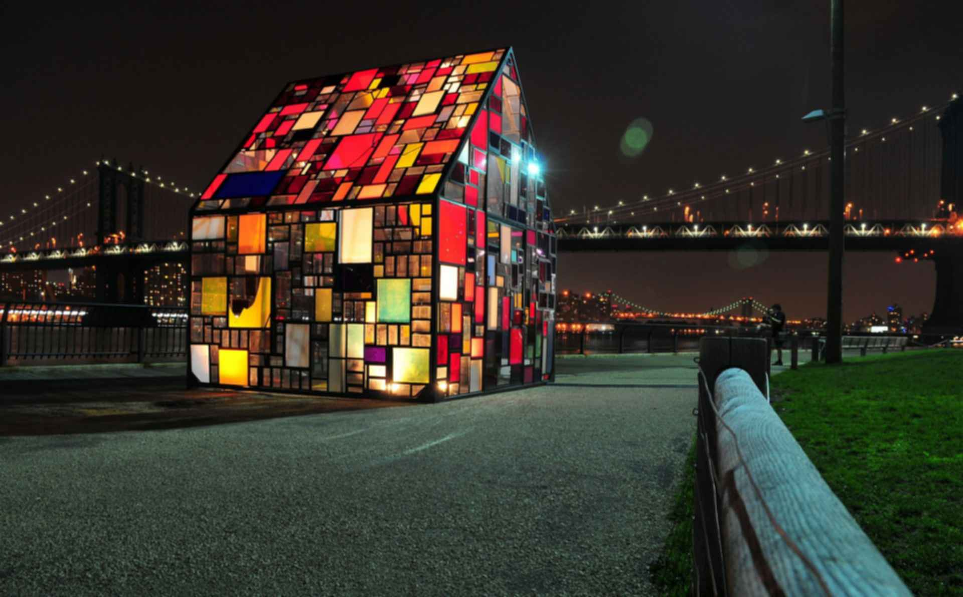 Colorful Glass House