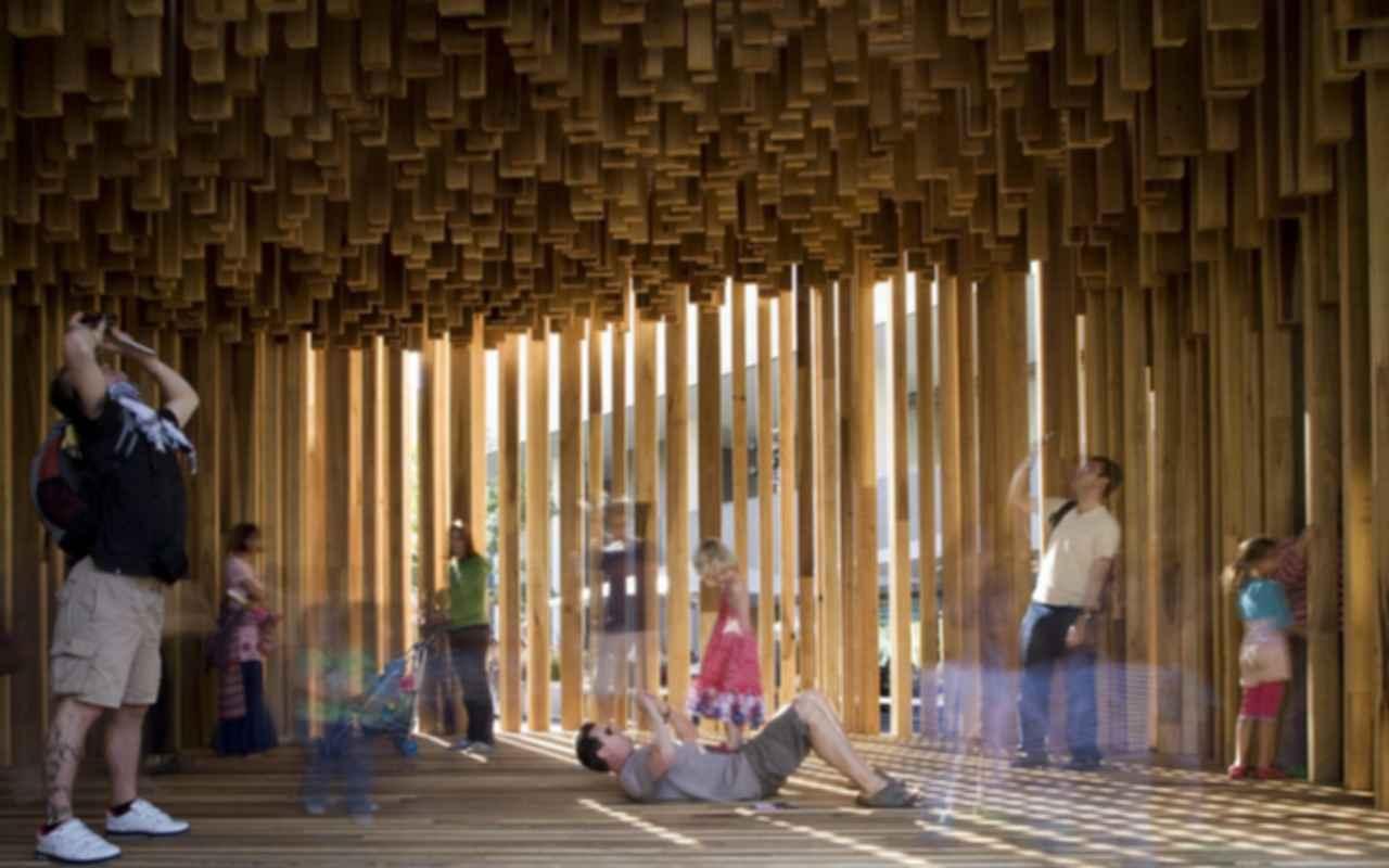 The Sclera Pavilion - Interior