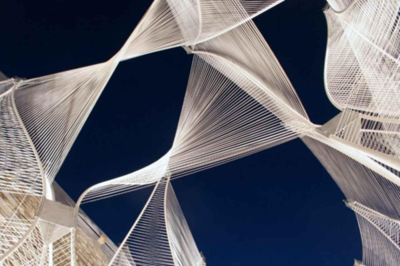 Windshape Ephemeral Pavilion - View of pipes