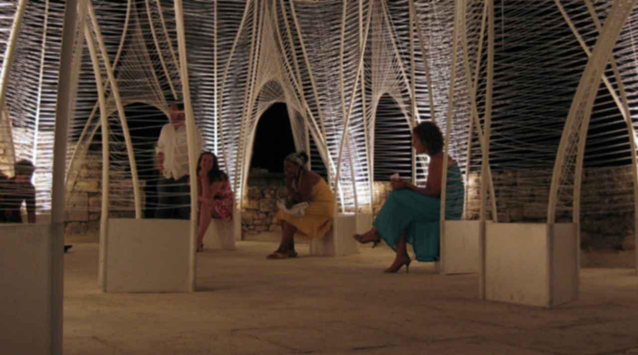 Windshape Ephemeral Pavilion - Inside the Pavilion