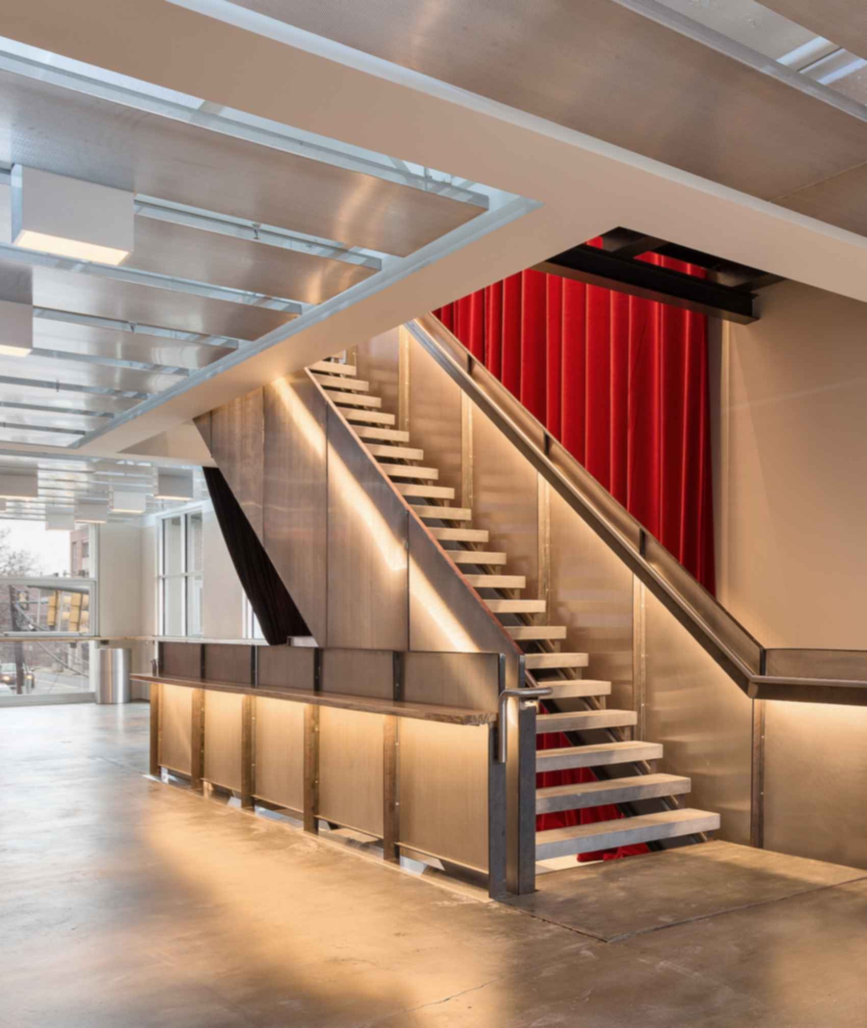 Live Arts Lobby - Lobby Stairs