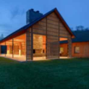 Contemporary Barn Residence - At Night