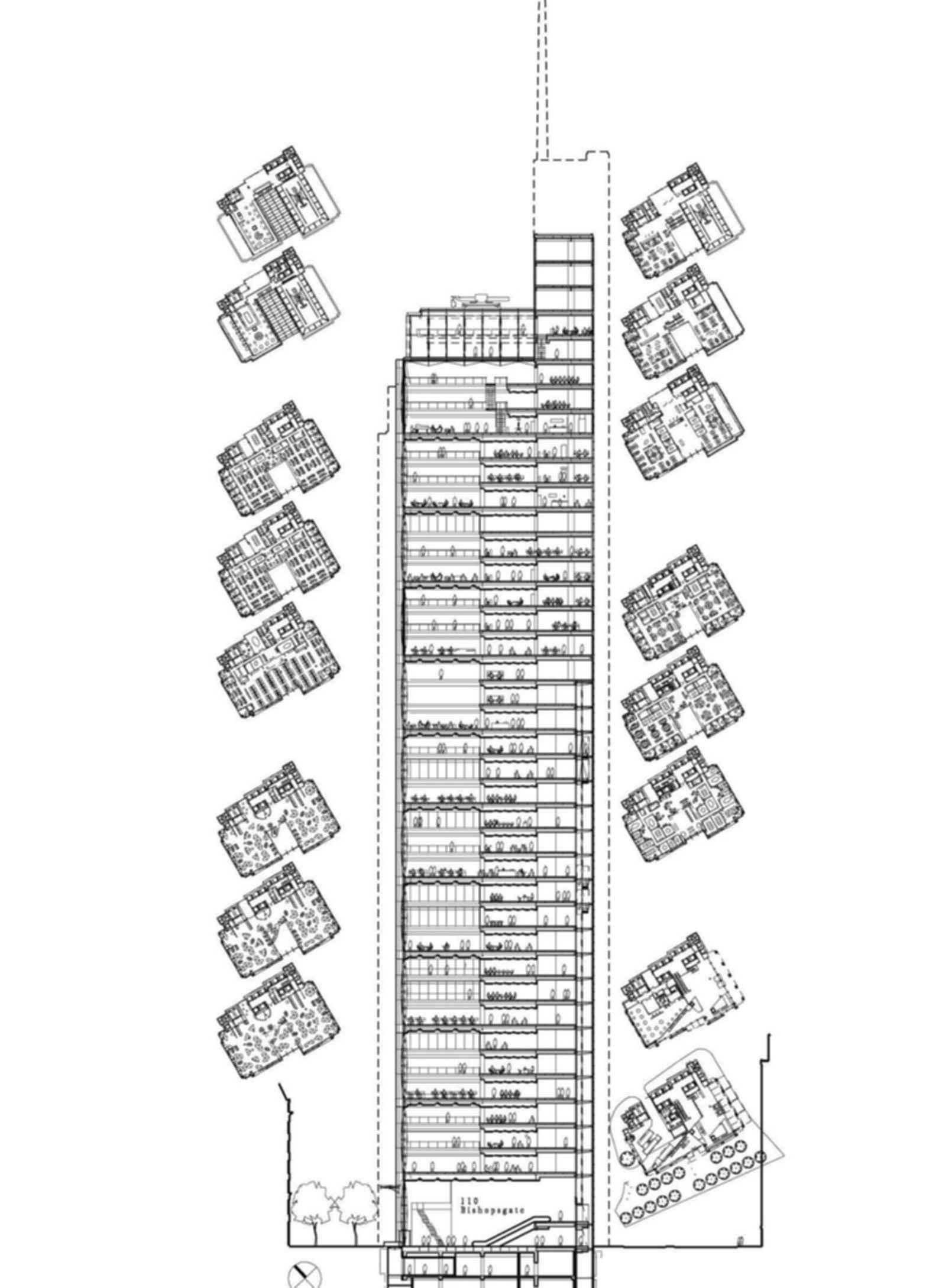 110 Bishopsgate - Drawing