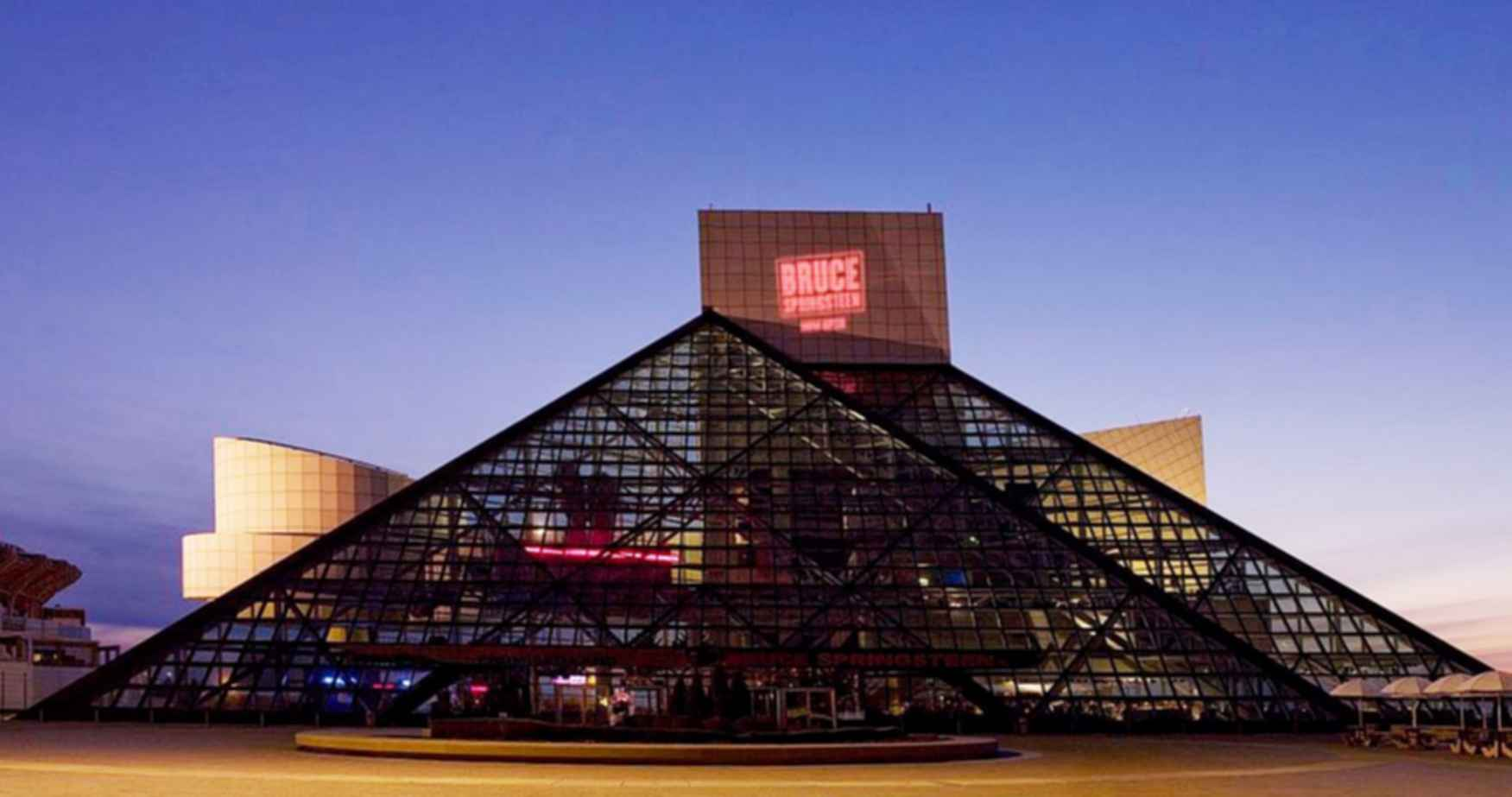 The Rock and Roll Hall of Fame Museum - At Night