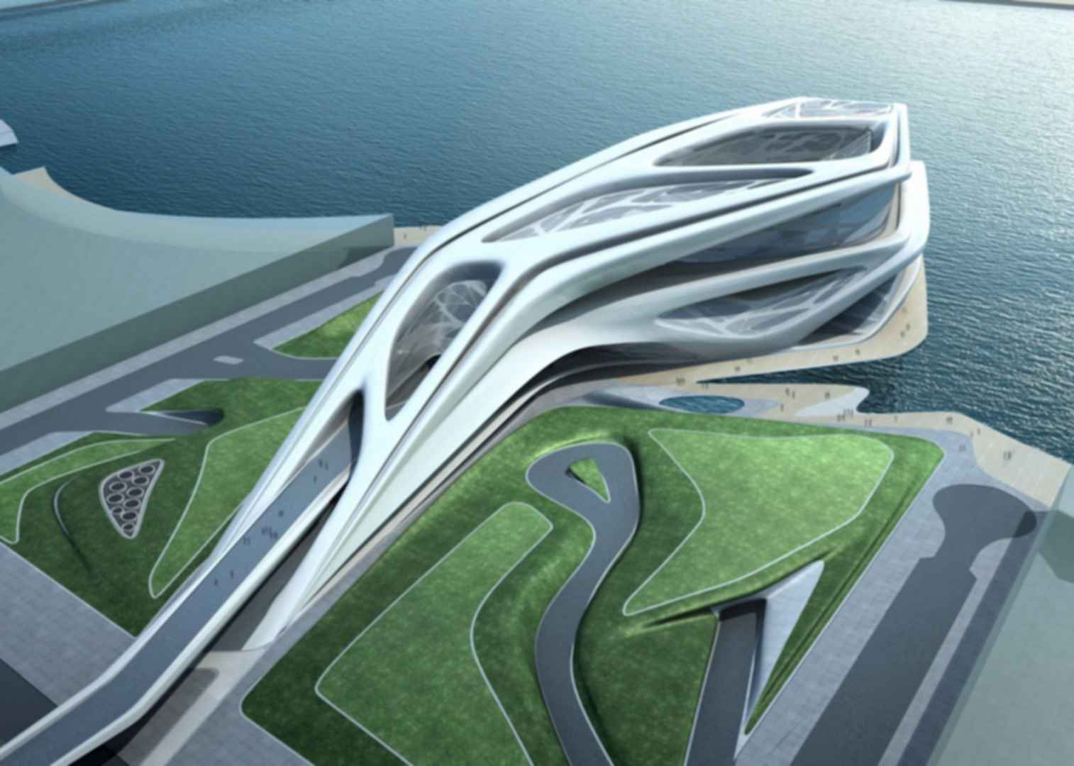 Abu Dhabi Performing Arts Centre - Overhead View Concept