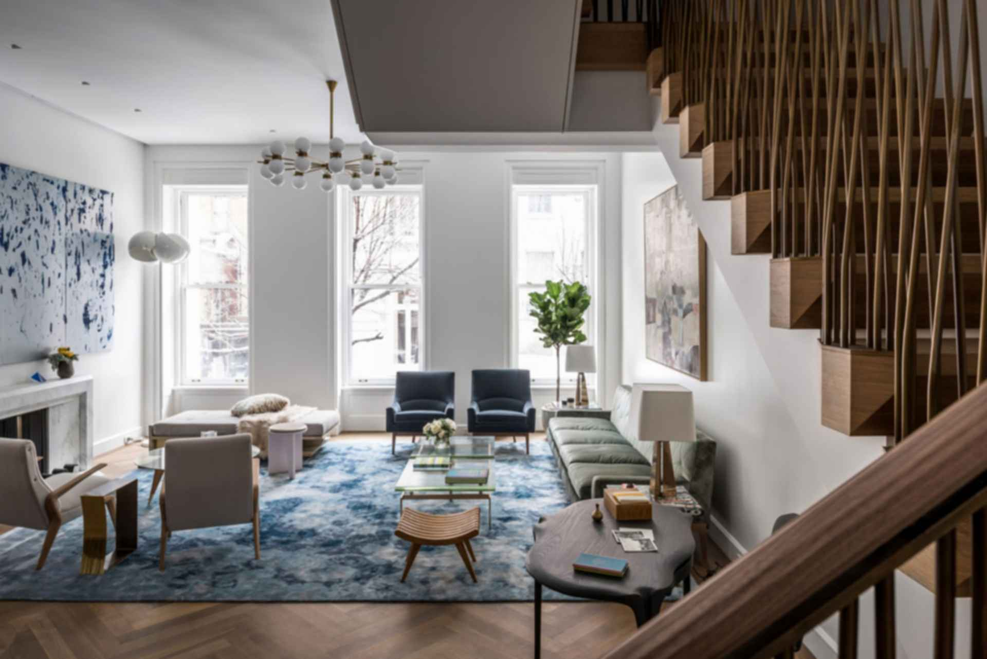 Upper East Side Townhouse - Living Room