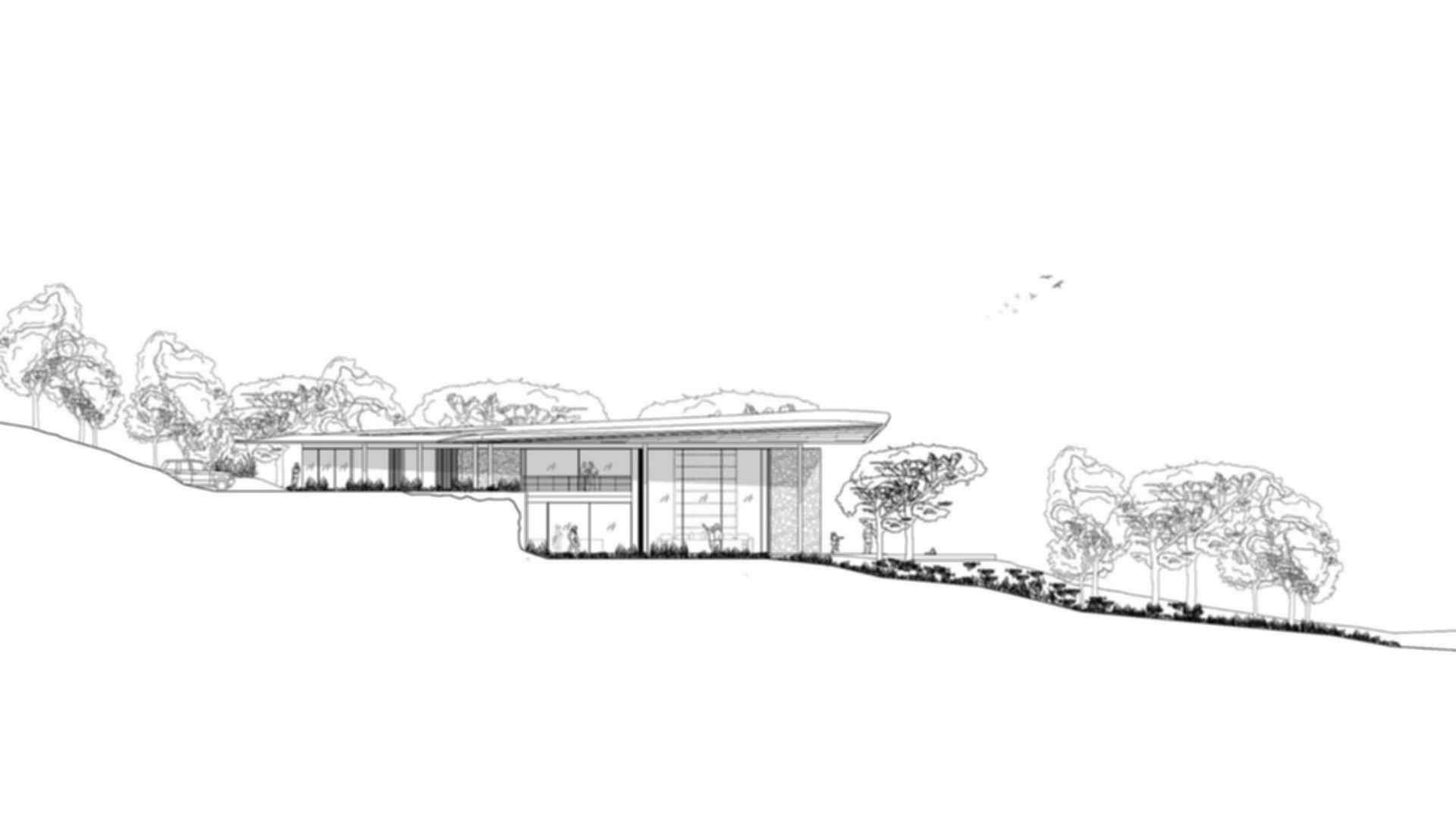 Dolunay Villa - Drawing Side View
