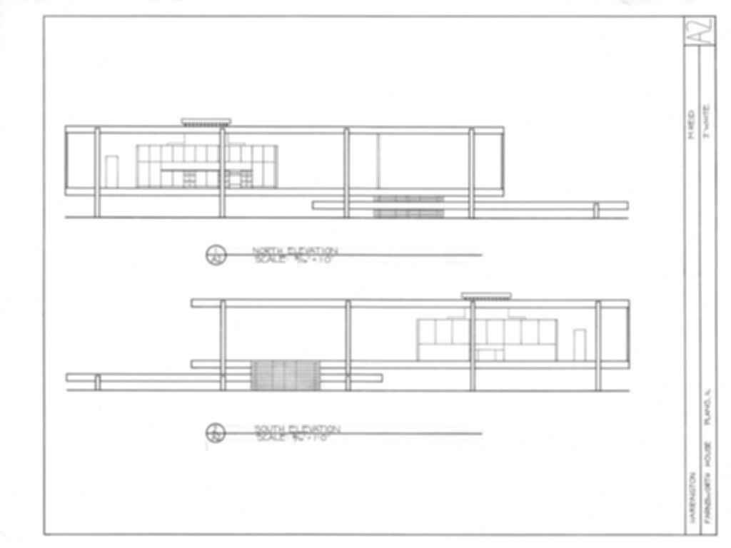 Farnsworth House - Site Plan