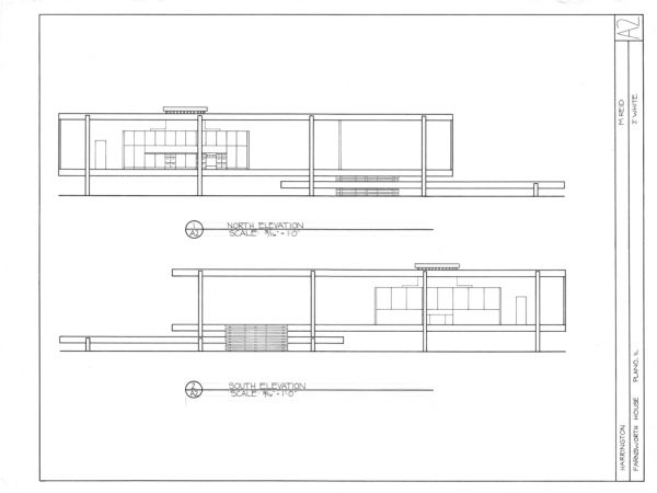 Farnsworth house site plan for Farnsworth house floor plan