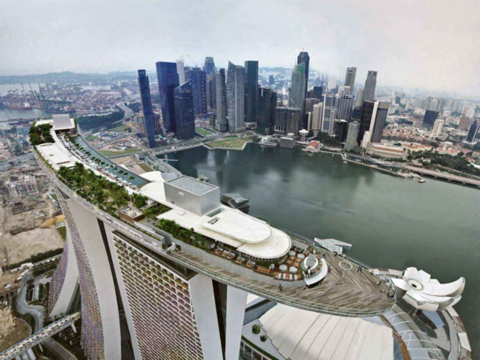 Marina Bay Sands Skypark - View of the Skypark