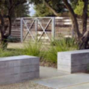 Medlock Ames Tasting Room - Walkway/Benches