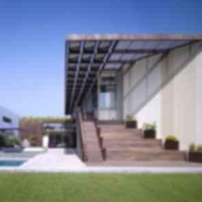 Ying Yang House - Backyard
