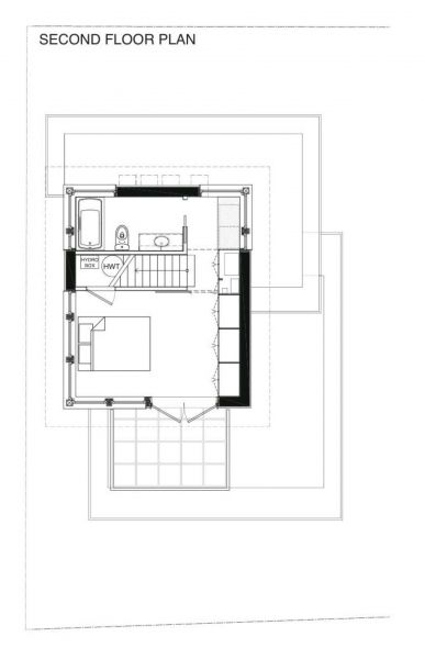 Net zero laneway house second floor plan for Net zero house plans