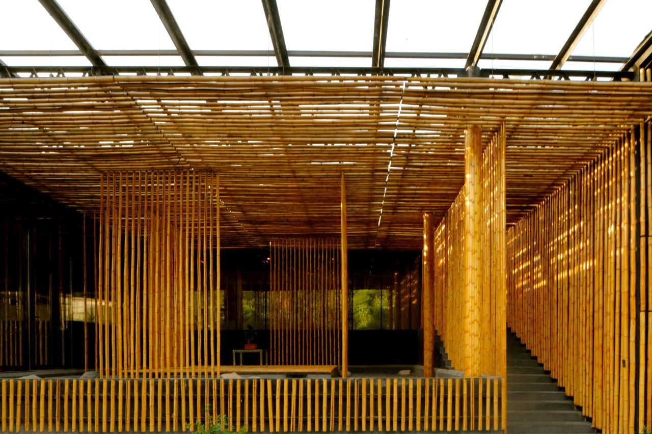 Great Bamboo Wall Exterior Open Space Modlar Com