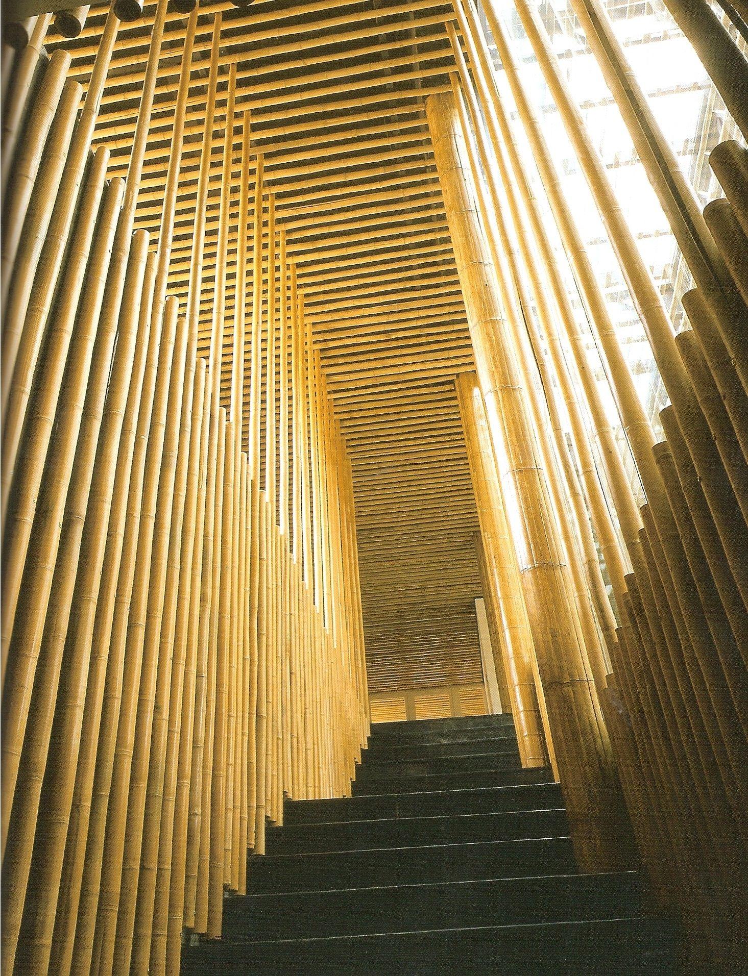 Great Bamboo Wall Stairs Modlar Com