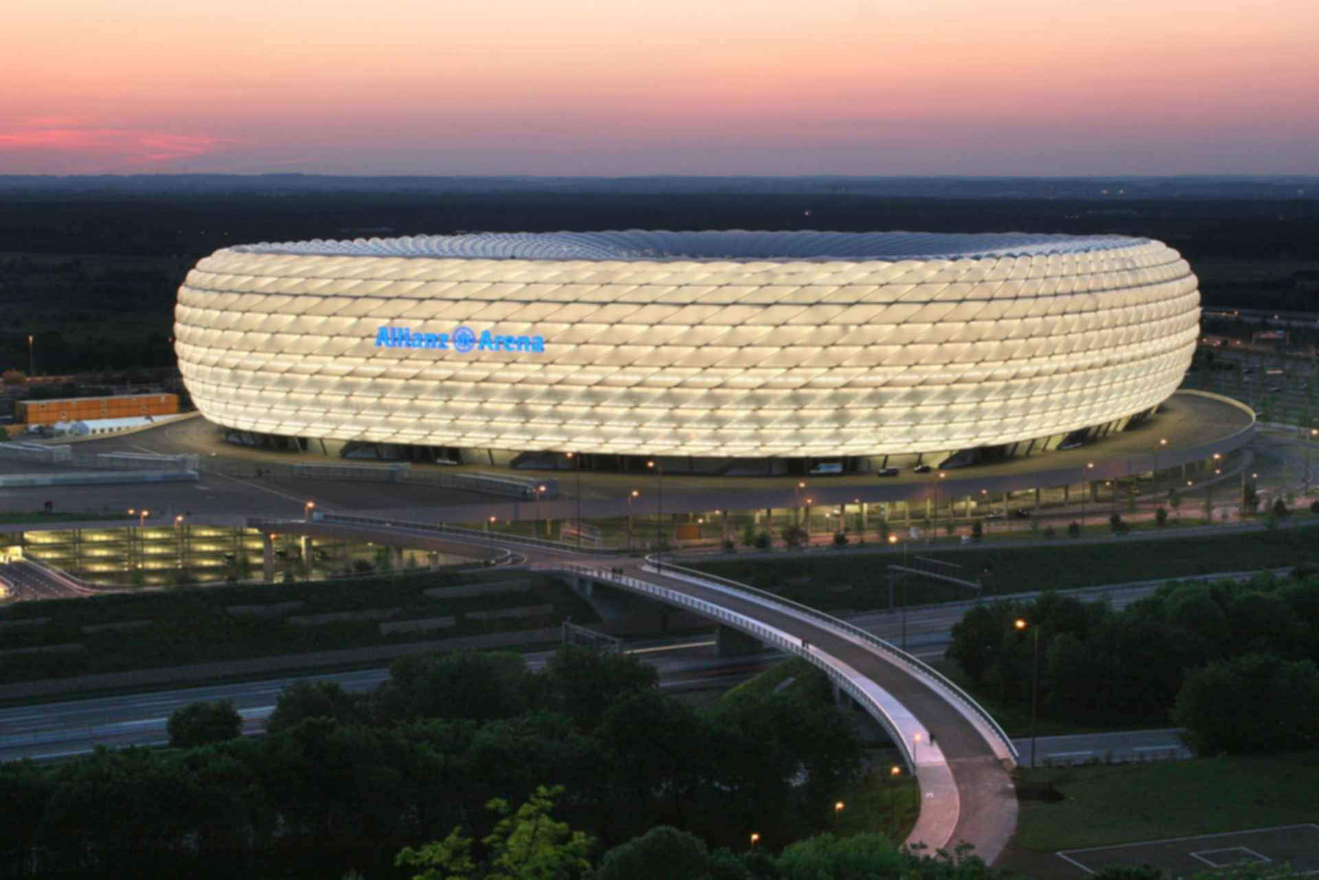 Allianz Arena - Exterior at Night