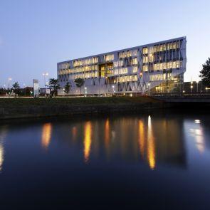 Kolding Campus, University of Southern Denmark - Exterior at Night