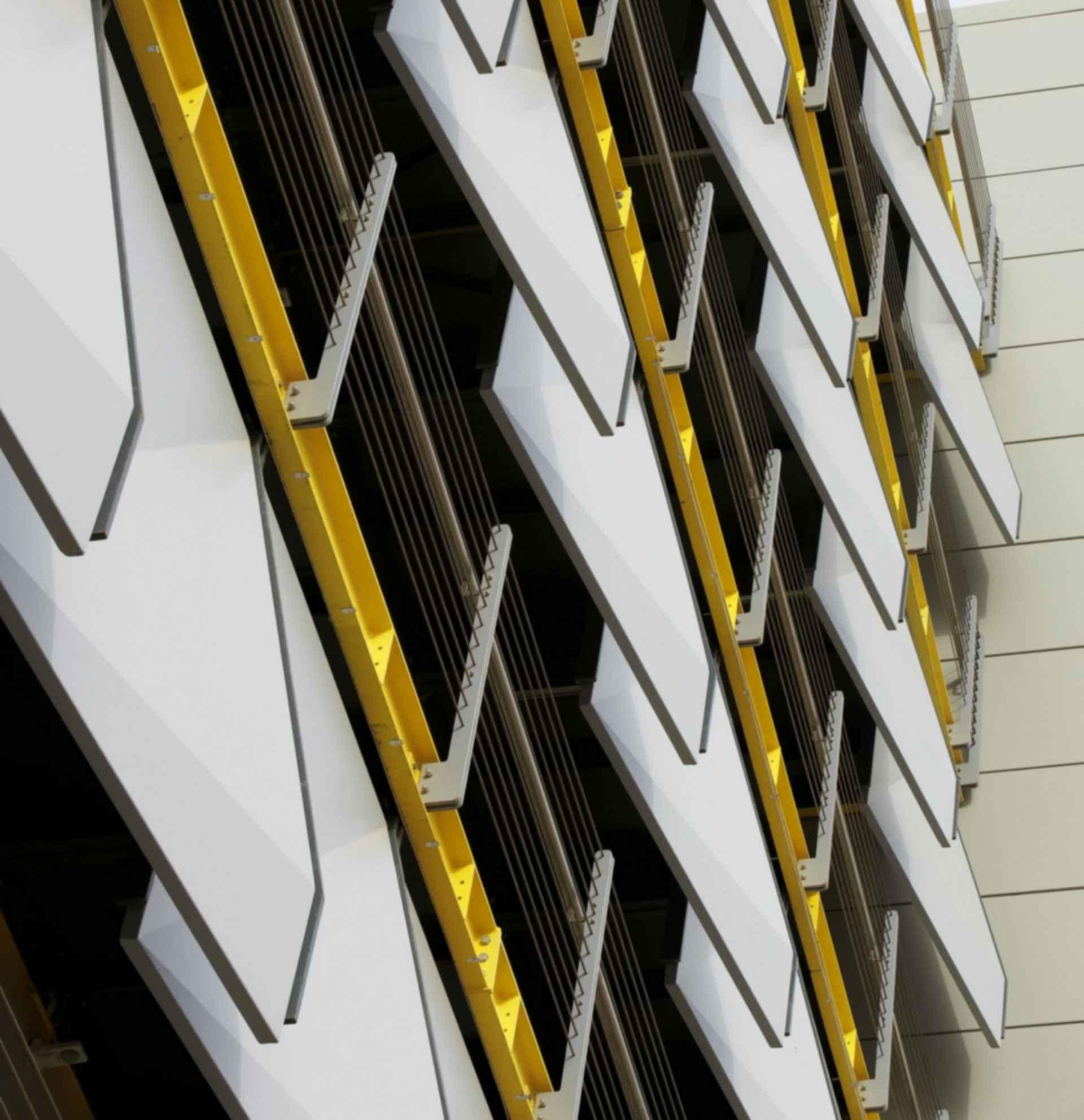 Siemens HQ in Masdar City - Exterior Close up