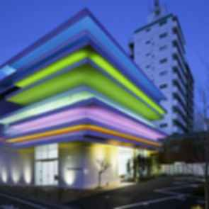 Sugamo Shinkin Bank - Exterior at Night