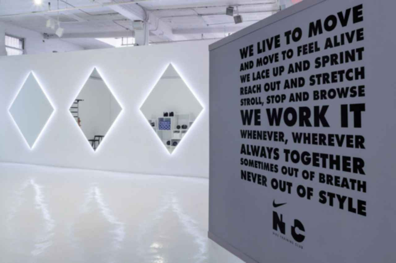 Nike's Women's Fall Holiday Presentation - Interior/Quote Wall