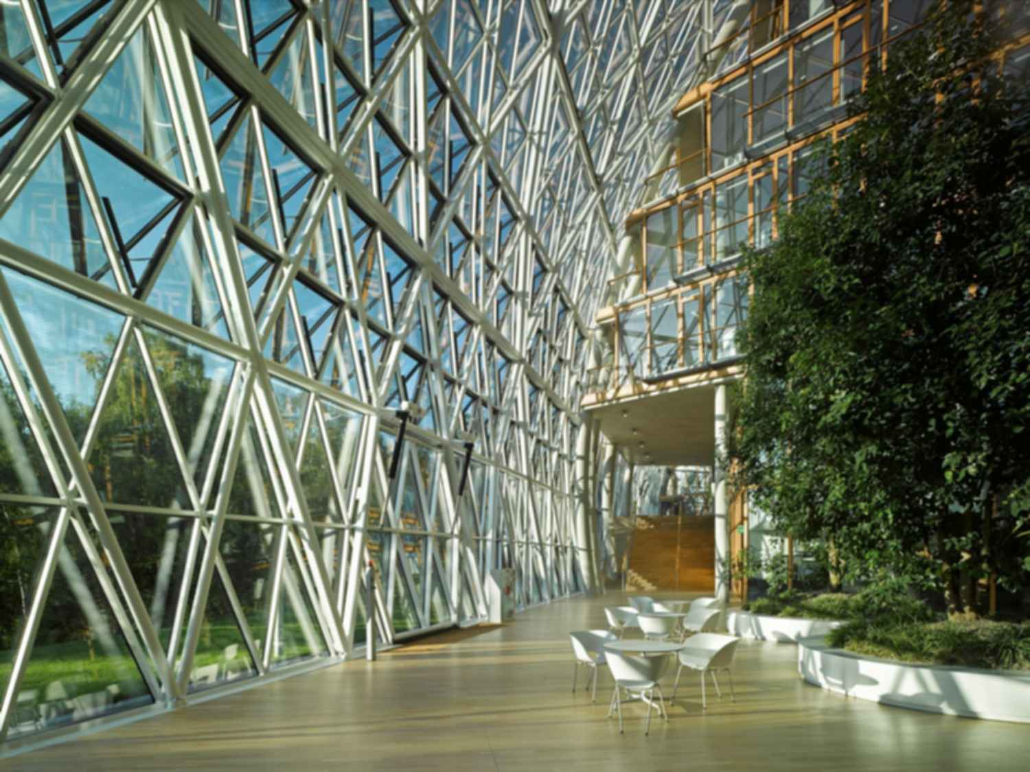 European Investment Bank - Interior/Glass Wall