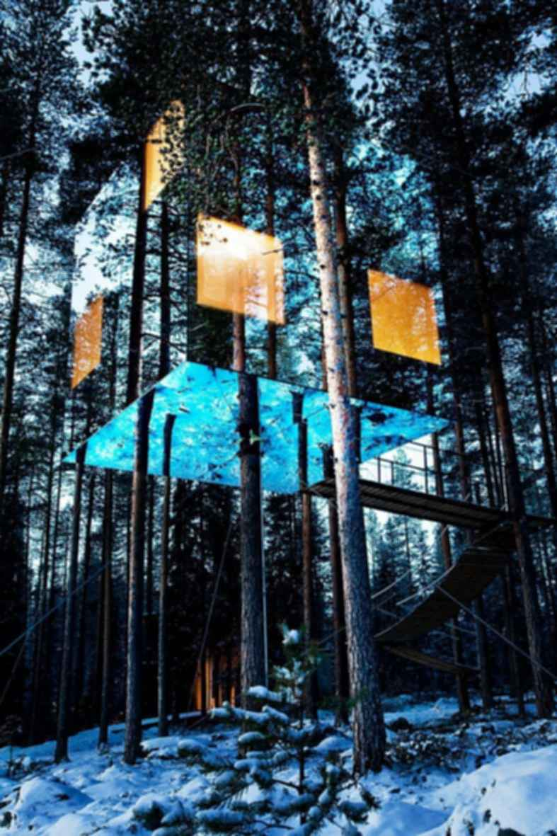 The Mirrorcube Treehotel - Exterior