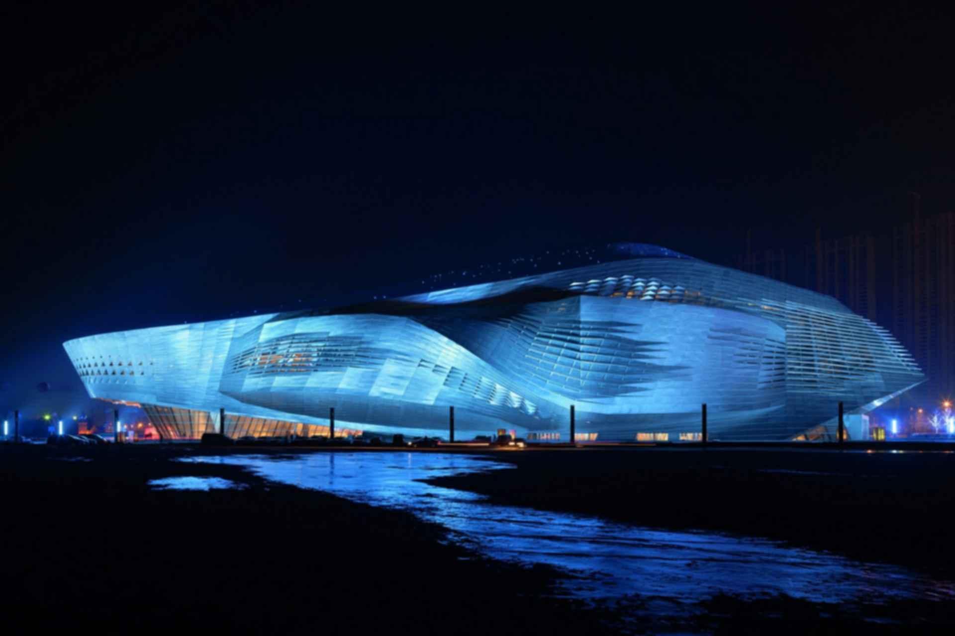 Dalian International Convention Center - Exterior at Night