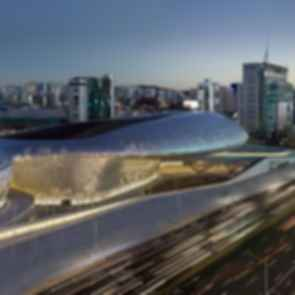 Dongdaemun Design Plaza - Exterior at Night