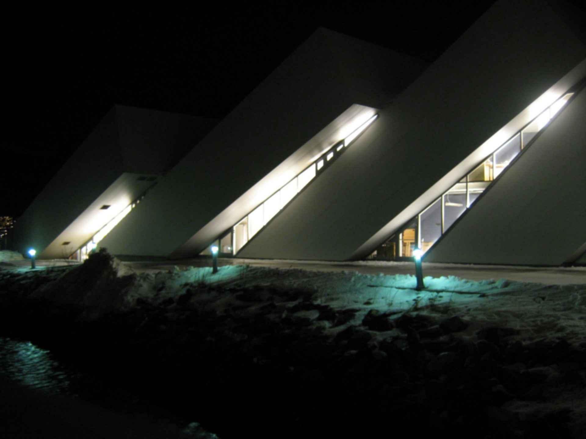 Polaria Museum - Exterior at Night