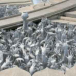 Wat Rong Khun - Hand Sculptures